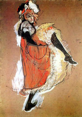 Henri de Toulouse-Lautrec - Jane Avril, tanzend