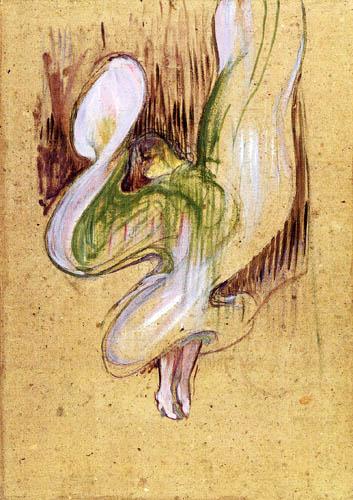 Henri de Toulouse-Lautrec - Loïe Fuller in Folies Bergère