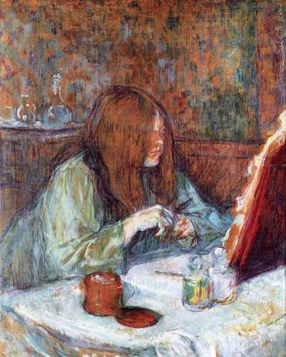 Henri de Toulouse-Lautrec - Toilet table, Madame Poupoule