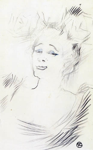 Henri de Toulouse-Lautrec - Mademoiselle Marcelle Lender