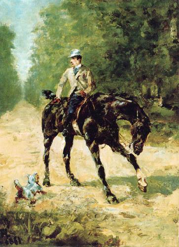Henri de Toulouse-Lautrec - Equestrian portrait, Monsieur du Passage