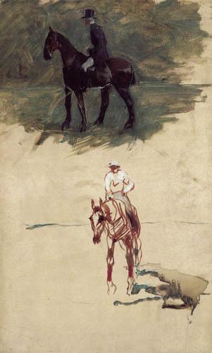 Henri de Toulouse-Lautrec - Rider studies