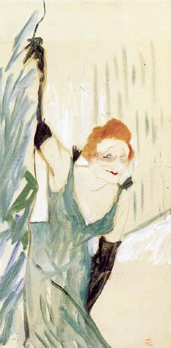 Henri de Toulouse-Lautrec - Yvette Guilbert greets the public