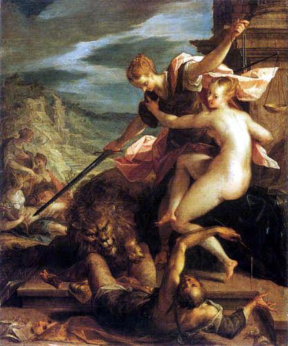 Hans von Aachen (Achen) - The victory of truth