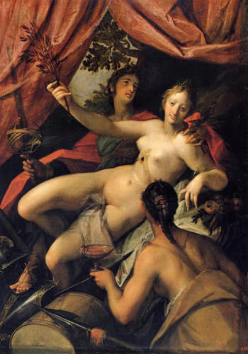 Hans von Aachen (Achen) - Allegory of Peace, Art and Wealth