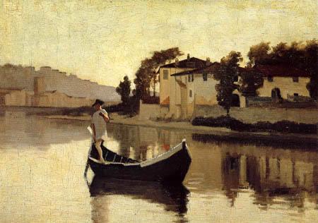 Giuseppe Abbati - Arno bei Casaccia
