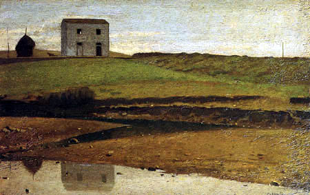 Giuseppe Abbati - House at the River