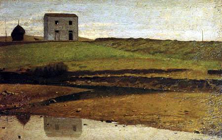 Giuseppe Abbati - Haus am Fluß