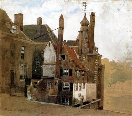 Andreas Achenbach - Häuser in Den Haag