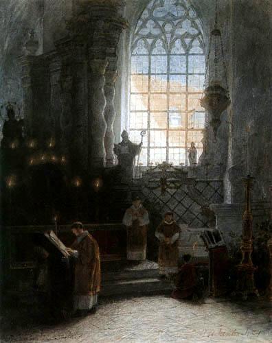 Andreas Achenbach - Messe à St. Lambertus
