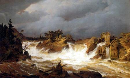 Andreas Achenbach - Trollhättan Falls