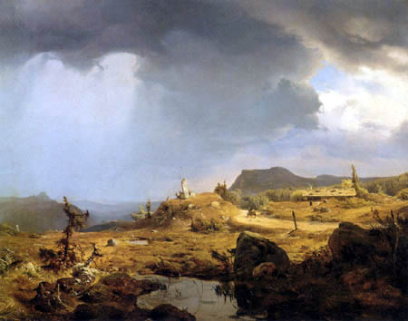Andreas Achenbach - Norwegische Landschaft