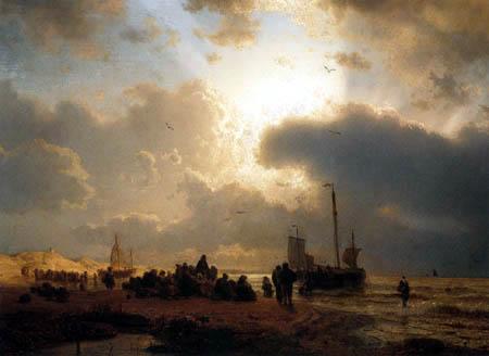 Andreas Achenbach - Der Strand von Scheveningen