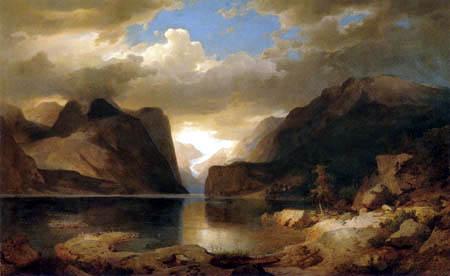Andreas Achenbach - Hardanger Fjord
