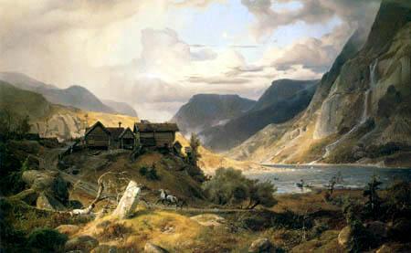 Andreas Achenbach - Norwegische Gebirgslandschaft