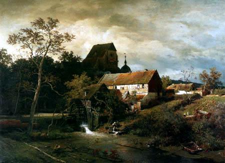 Andreas Achenbach - Le moulin