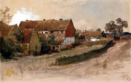Andreas Achenbach - Häuser in Hülchrath