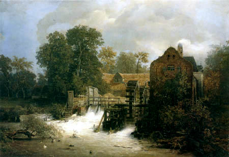 Andreas Achenbach - A Westphalian Mill