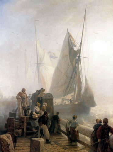 Andreas Achenbach - Entrance of the Ships