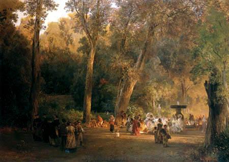 Oswald Achenbach - Im Park der Villa Torlonia