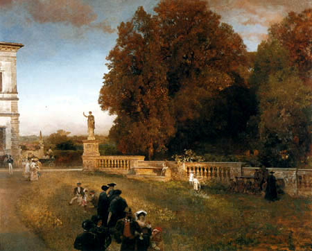 Oswald Achenbach - In the Park of the Villa Borghese