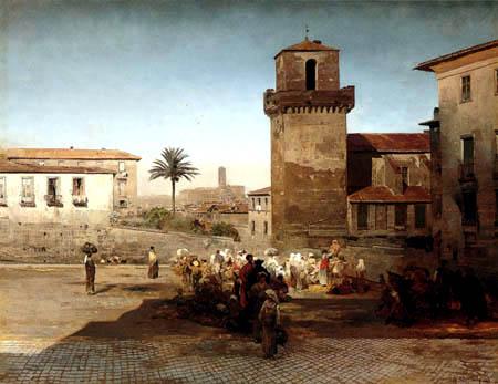 Oswald Achenbach - San Pietro in Vincoli in Rom