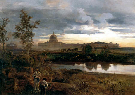 Oswald Achenbach - View of St. Peter