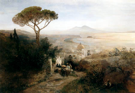 Oswald Achenbach - Küstenlandschaft bei Neapel