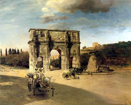 Oswald Achenbach - Triumphbogen des Konstantin in Rom