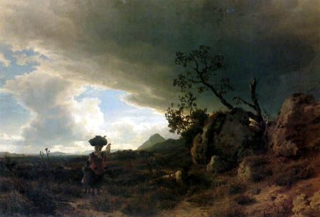 Oswald Achenbach - Thunderclouds in the Campagna