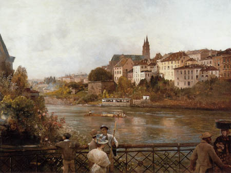 Oswald Achenbach - View of Basel