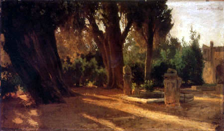Oswald Achenbach - Italian Park with Cistern