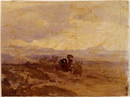 Oswald Achenbach - Landschaftsstudie bei Palermo