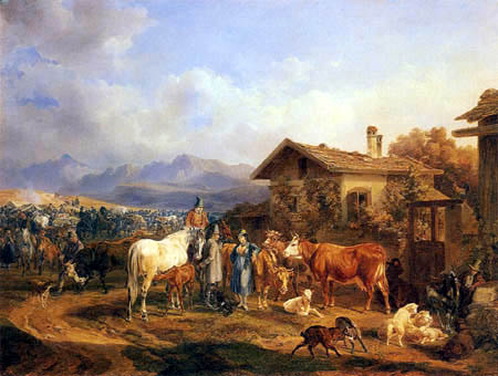 Benno Adam - Cattle Market in Bavaria