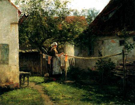 J. Ottis Adams - Waschtag in Bayern