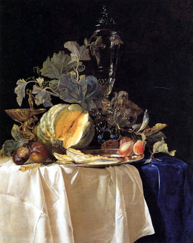 Willem van Aelst - Still life with fruits