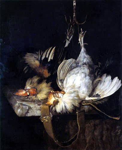 Willem van Aelst - Zwei tote Hähne