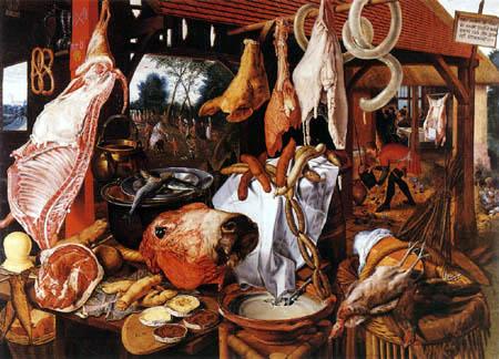 Pieter Aertsen (Aartsen, Aersten) - Der Fleischerladen