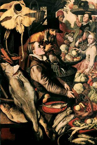 Pieter Aertsen (Aartsen, Aersten) - Die Fischverkäuferin