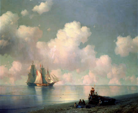 Ivan Konstantinovich Aivazovsky - Coastal landscape