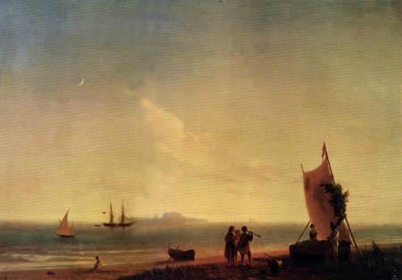 Iwan Konstantinowitsch Aiwasowski - Blick auf Capri
