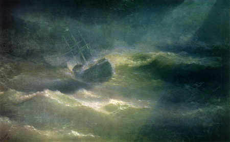 Ivan Konstantinovich Aivazovsky - The ship 'Maria' in the storm