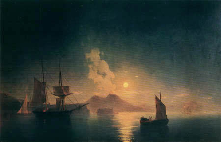 Ivan Konstantinovich Aivazovsky - The Bay of Naples at night