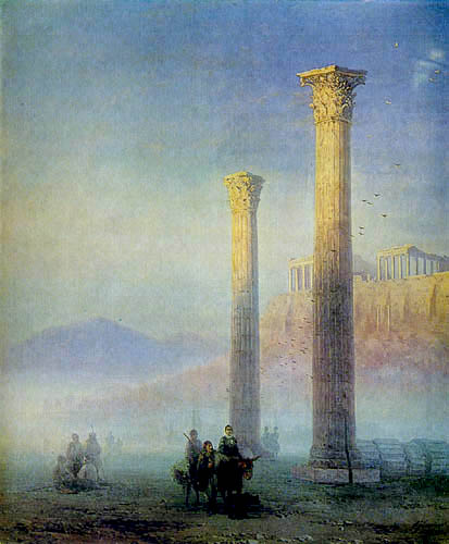 Ivan Konstantinovich Aivazovsky - The Acropolis of Athens