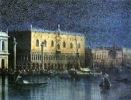 Ivan Konstantinovich Aivazovsky - The Palazzo Ducale in Venice at night