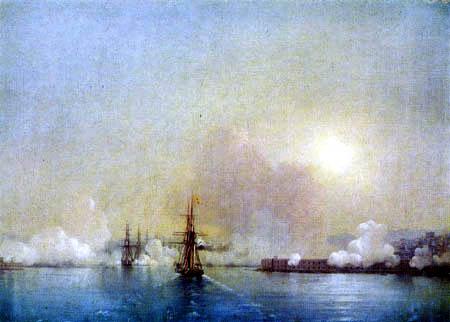 Iwan Konstantinowitsch Aiwasowski - Einfahrt zur Bucht von Sewastopol