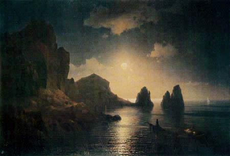 Ivan Konstantinovich Aivazovsky - Rocky Bay in the moonlight
