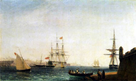 Iwan Konstantinowitsch Aiwasowski - Der Hafen La Valetta, Malta