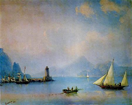Ivan Konstantinovich Aivazovsky - Bay with lighthouse