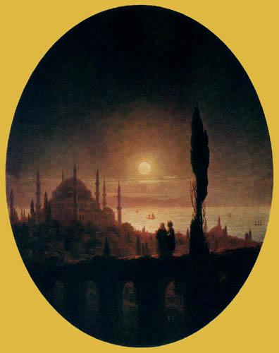 Ivan Konstantinovitch Aïvazovski - Nuit à Constantinople